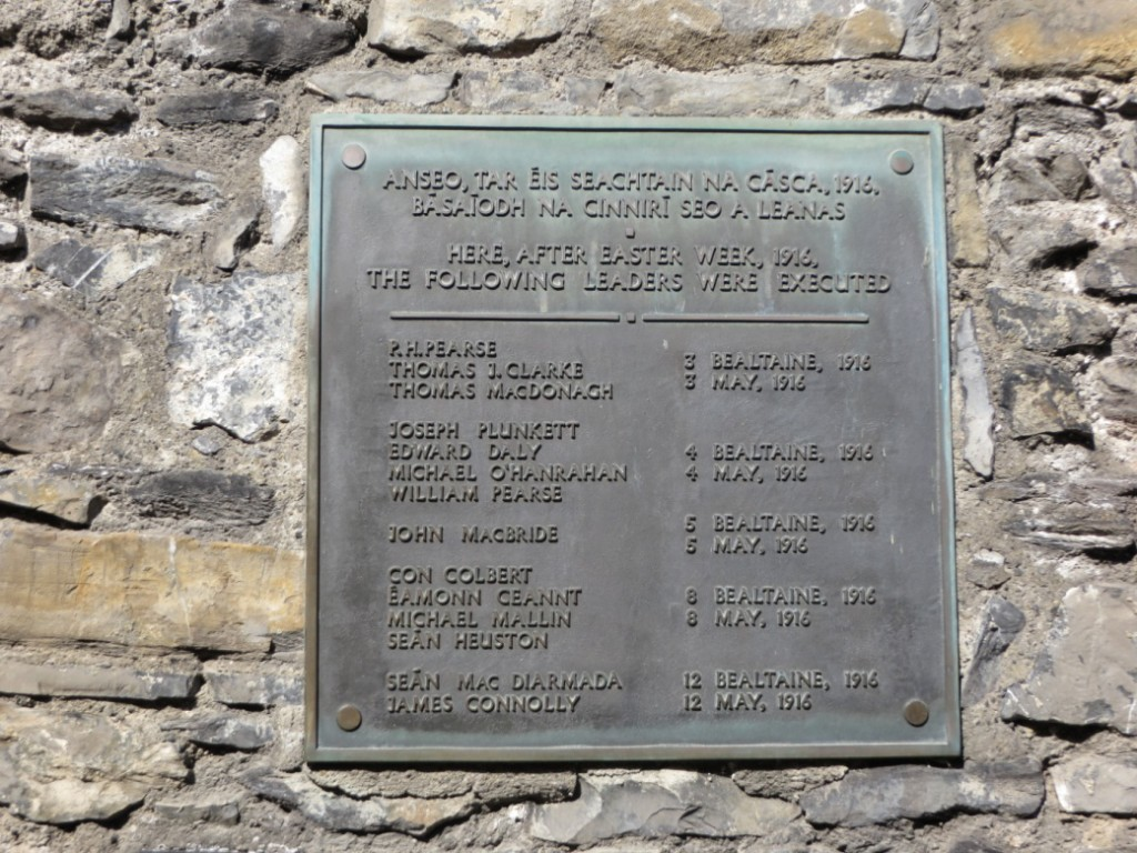 Plaque in Execution Yard, Kilmainham Gaol. © Christy Lawless