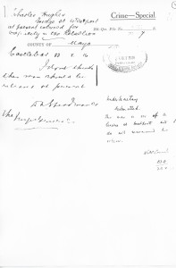 RIC report of Charles Hughes 22.X.16